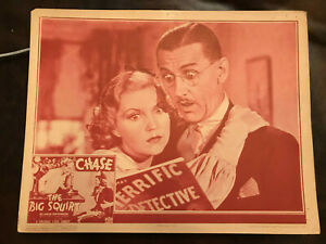 The Big Squirt 1937 Columbia 11x14 comedy short lobby Charlie Chase Lucille Lund