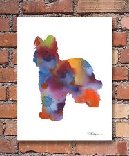 Briard Abstract Watercolor Painting Art Print by Artist DJ Rogers