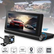 7'' 1080P Car DVR GPS Android 5.1 Dual Lens Camera Navigation Rearview Dash Cam