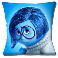 Inside Out Disney Film Cushion Cover 16x16 inch 40cm Character Sadness Blue