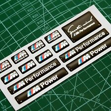 13pc BMW M Power Performance 3d domed sticker decal emblem wheel key fob