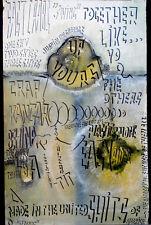 1960's Vintage PSYCHEDELIC GRAFFITI ART London Rock Concert BEA TRIDENT Poster