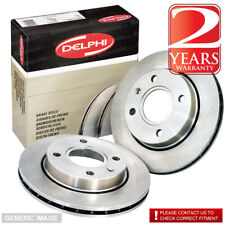 Front Vented Brake Discs Vauxhall Combo 1.6 Box / Estate 2001-04 84HP 260mm