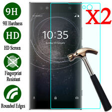 2X 9H Tempered Glass Film Screen Protector For Sony Xperia XA1 XA2 Ultra XZ1 XZ2
