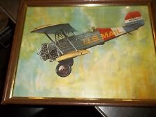 "PITCARIN "" SUPER MAILWING"" PA-6 1929 FRAMED PICTURE APPROX 9-3/4"" X 12-3/4""(V2)"