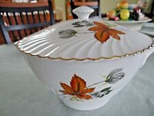 LUNEVILLE CHINA K&G FRANCE TUREEN COVERED CASSEROLE WHITE ROSE FALL LEAF 1889