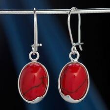 Koralle Silber 925 Ohrringe Ohrhänger H0551