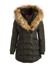 NEW   Canada Weather Gear Olive  Faux Fur Trim Hood Puffer Coat Size XL