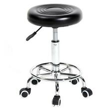 Round Stool with Lines Rotation Bar Stool Black