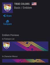 Destiny 2 True Colors Emblem LGBTQ Bungie Pride Day Shadowkeep for PC, PS4, XBOX