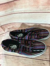 VANS SNEAKERS SHOES RAINBOW STRIPES SIZE 5.5 MENS-7.5 WOMENS