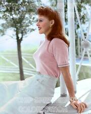 GINGER ROGERS IN PINK OUTDOORS 8X10 BEAUTIFUL COLOR PHOTO BY CHIP SPRINGER
