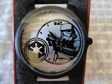 Disney Star Wars STORMTROOPER Watch Large Face White Rubber Band Accutime Men's