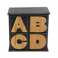 Wooden 4 Drawer ABCD Storage Holders Table Side Cabinet Cupboard Unit