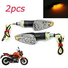 2pcs Mini Stalk Arrow Motorcycle LED Turn Signals Indicators Blinkers Lights Fit