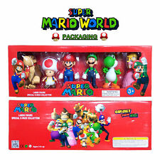 6PCS SUPER MARIO BROS ACTION FIGURES FIGURINES TOY CAKE TOPPER DECOR COLLECTION