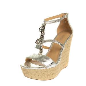 RRP €195 MICHAEL MICHAEL KORS Leather Espadrille Sandals EU 38.5 UK 5.5 US 8