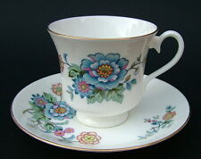 1980's Royal Albert Hidden Valley New Romance Tea Cups & Saucers - Look in VGC