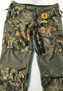 New Mens 3XL Browning Hunting Pants Mossy Oak Hell's Canyon Soft Shell With Tags