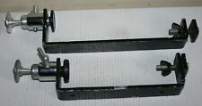 Pair Vintage Fixed Camera Mount / Mounts With Tripod Type Swivel & Tilt Head