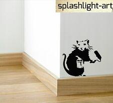 Banksy Rat Painter Skirting Board vinyl wall Dical sticker black vinyl funny