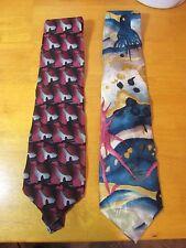 Lot of 2 Men's J. Garcia Collector's Edition 100% Silk Ties Stonehenge Jerry Tie