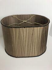 Beaded Lamp Shade Oval Fabric