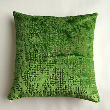 CUSHION COVER IN DESIGNERS GUILD BORATTI GRASS AND ROMO SOLEA