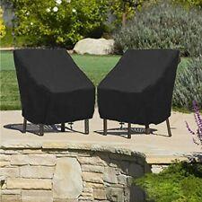 Waterproof High Back Chair Sun Cover Outdoor Patio Garden Furniture Storage Case