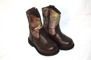 Team Realtree toddler camouflage boots