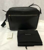 NWT Paul Smith City Embossed Leather Crossbody Messenger Bag , Black APXA 4713 L