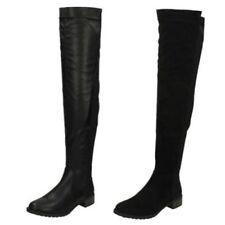 Scarpe da donna stivali al ginocchio in sintetico con da infilare