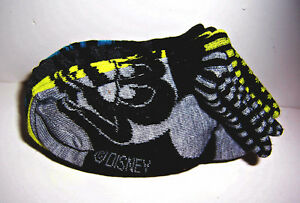 SET/5 Pairs Disney MICKEY MOUSE Soft Colorful CREW SOCKS Slippers Size 7-10 NWT!