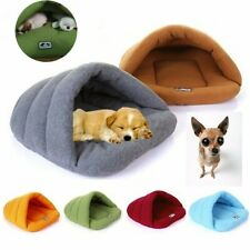 Pet Dog Cat Puppy Cave Crate Cozy Warm Winter Bed House Sleeping Bag Plush  #