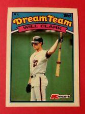 WILL CLARK * DREAM TEAM #23 SAN FRANCISCO GIANTS * 1989 TOPPS K MART MLB