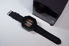 NIXIE TUBE WATCH V1.0 STEAMPUNK BLACK ANODIZED ALUMINIUM CASE WITH USB CHARGER