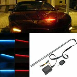 56cm 48LED RGB Car Scanner Knight Rider Strobe Flash Light Strip+Remote o-