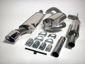 Jetex VW Corrado VR6 Stainless Steel Cat Back Exhaust Half System