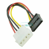 2PCS Male Female 4 Pin Power Drive Adapter Cable to Molex IDE SATA 15Pin