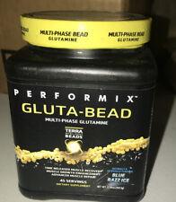 Performix   GLUTA-BEAD, Pure Glutamine Powder   Blue Razz Ice, 365g, 45 servings