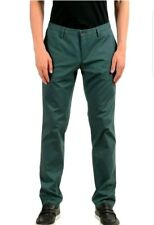 "Hugo Boss ""Stanino16-W"" Men's Green Stretch Slim Casual Pants US 32 IT 48 $165"