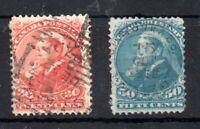 Canada 1893 QV 20c & 50c fine used SG115 & SG116 WS19404