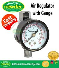 SPRAY GUN AIR REGULATOR PSI BAR REG GAUGE SUITS SATA IWATA DEVILBISS STAR 180PS