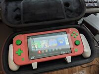 Custom Nintendo Switch Lite Coral (All Digital Edition) (read description)