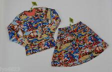 OILILY Tanisha Deer print Skirt & Top Size 128 / 8 BRAND NEW NWT
