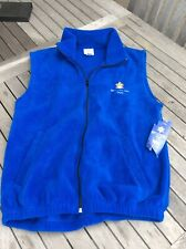 2002 Winter Olympics Blue Fleece Vest - With Tag - Salt Lake City