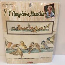 Marjolein Bastin Lanarte Linen KIT Counted Cross Stitch The Pecking Order Birds