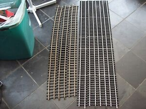 7 ARISTOCRAFT G SCALE MODEL RAILWAY BRASS/STAINLESS STEEL LONG TRACK STRAIGHTS