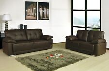 Sienna Leather Sofas 3+2+1 Black Brown Cream Sofa Set Suite 2 Piece Suite Couch