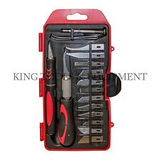 KING 16-pc Craft Hobby Knife Set, w/ Exacto Precision Cutting Blades & Tweezers